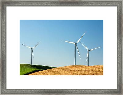 Patchwork And Wind Framed Print by Todd Klassy