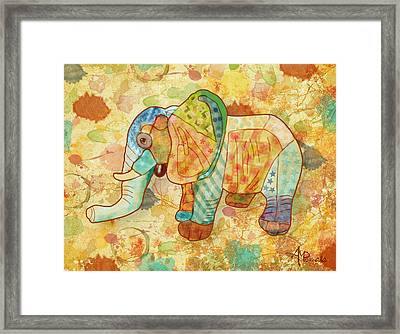 Patchwork Elephant Framed Print