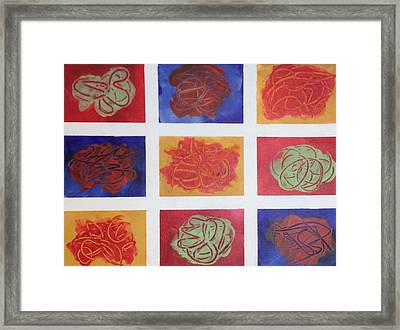Patchwork Flowers 2 Framed Print by Mahlia Amatina