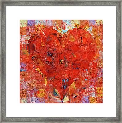 Patchwork Heart Framed Print