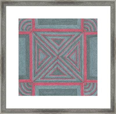 Framed Print featuring the drawing Patchwork by Jill Lenzmeier