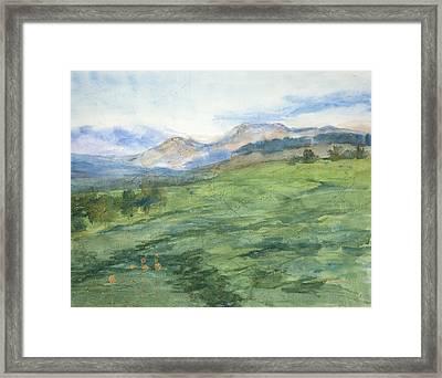 Patchwork Of Green Framed Print