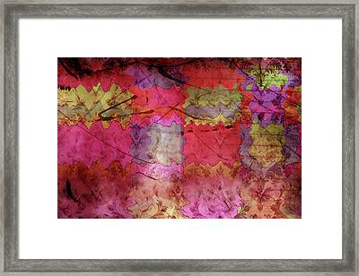 Patchwork Promises Framed Print by Bonnie Bruno