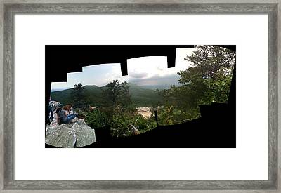 Patchwork View Framed Print
