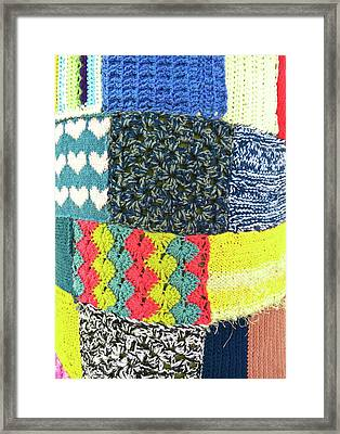 Patchwork Wool Framed Print by Tom Gowanlock