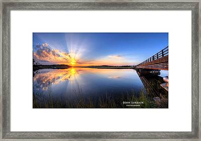 Patcong Rays Framed Print
