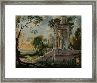 Patel The Younger Architectural Capriccio Framed Print