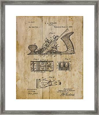 Patent Art Plane 1895 Framed Print