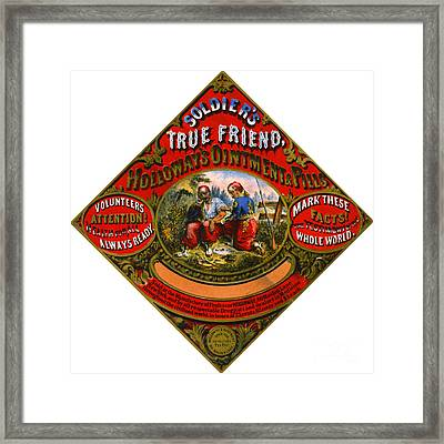 Framed Print featuring the photograph Patent Medicine Label 1862 by Padre Art