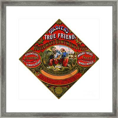 Patent Medicine Label 1862 Framed Print