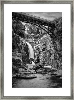 Paterson Great Falls IIi Bw Framed Print by Susan Candelario