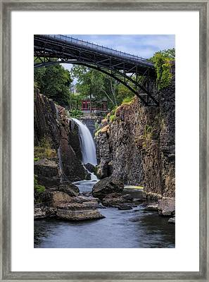 Paterson Great Falls IIi Framed Print by Susan Candelario