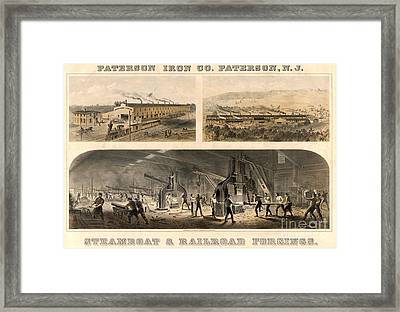 Paterson Iron Company Framed Print by Granger