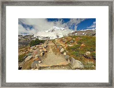 Path Before The Climb Framed Print by Adam Jewell