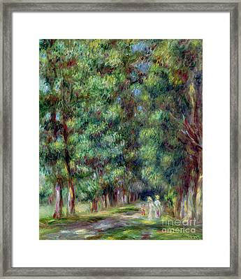 Path In A Wood Framed Print