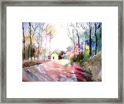 Path In Colors Framed Print by Anil Nene