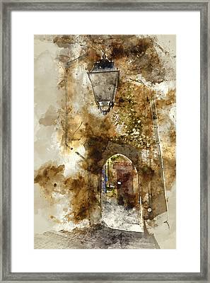 Path In Provence France Framed Print by Brandon Bourdages