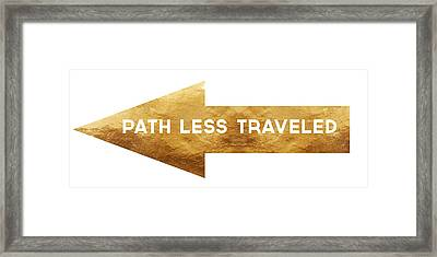 Path Less Traveled-  Art By Linda Woods Framed Print