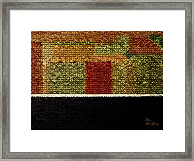 Framed Print featuring the painting Path Of Patterns by Sherri  Of Palm Springs