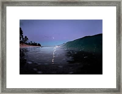 Path Of Pearls. Framed Print
