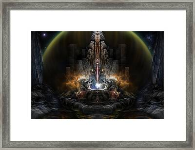 Path Of Shadows Framed Print