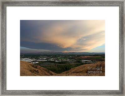 Path Of The Storm Framed Print by Mike Dawson