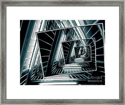 Path Of Winding Rails Framed Print