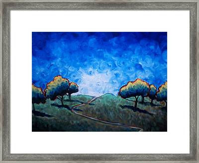 Path Through Las Trampas Framed Print by Sheila Tajima