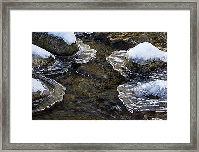 Path Through The Ice Framed Print by Jean Noren