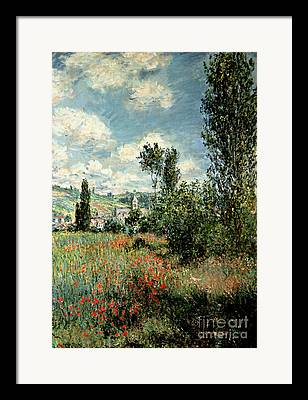 Vetheuil Framed Prints