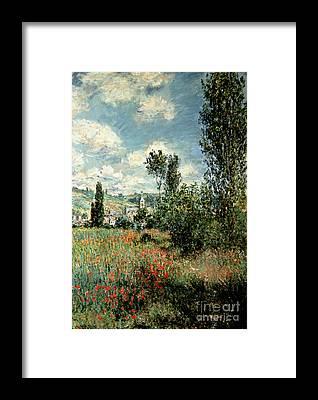 Vetheuil Framed Prints