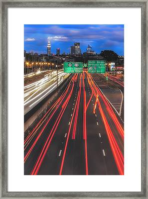 Path To And From Nyc II Framed Print