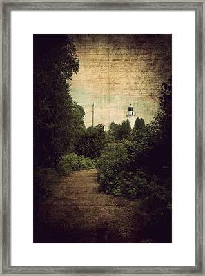 Path To Cana Island Lighthouse Framed Print