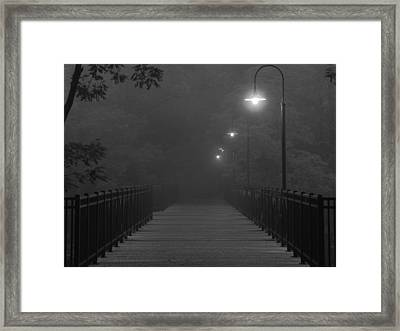 Path To Darkness Framed Print