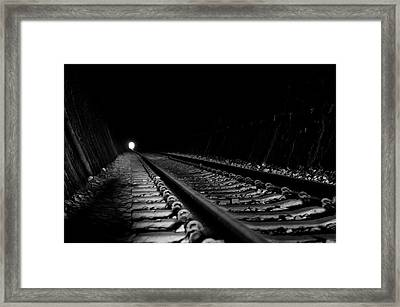 Path To Darkness Framed Print by Daniel Lih
