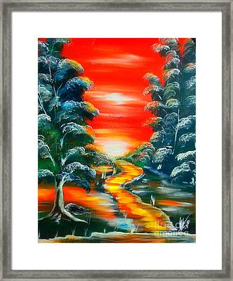 Path To Freedom Framed Print by Collin A Clarke