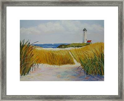 Path To Lighthouse Framed Print