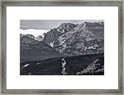 Framed Print featuring the photograph Path To Longs Peak by Dan Sproul