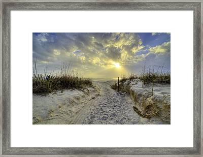 Path To Panama City Beach Framed Print by JC Findley
