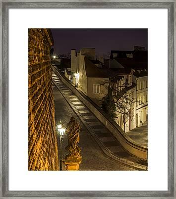 Path To Prague Castle Framed Print by Marek Boguszak