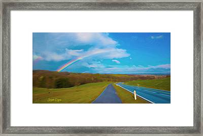 Path To Rainbow - Da Framed Print by Leonardo Digenio