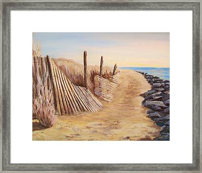 Path To Roosevelt Inlet Framed Print