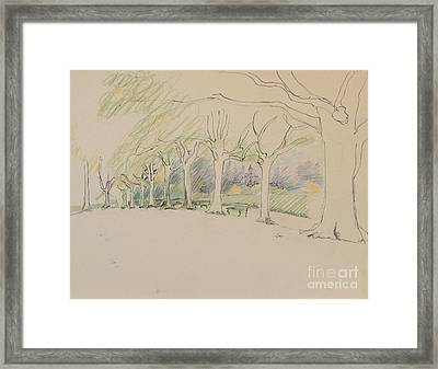 Path To Rugby House Framed Print