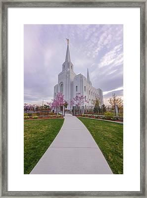 Path To Salvation Framed Print by Dustin LeFevre