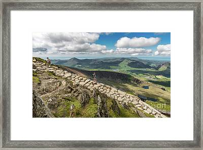 Path To Snowdon Framed Print by Adrian Evans