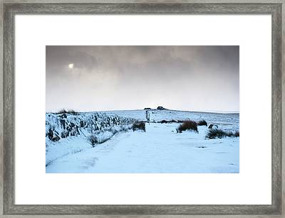 Path To South Hessary Tor II Framed Print