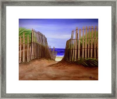 Path To The Beach Framed Print by Liz Boston