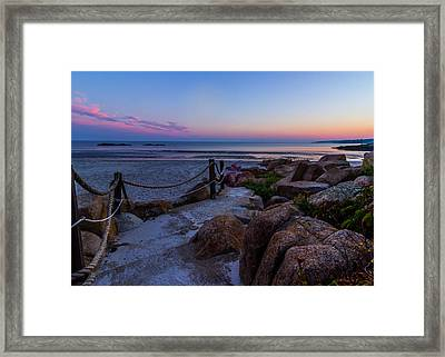Path To The Beach Framed Print by Tim Kirchoff