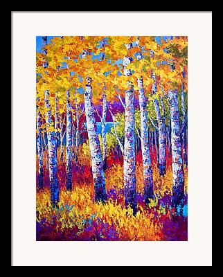 Autumn Leaves Paintings Framed Prints