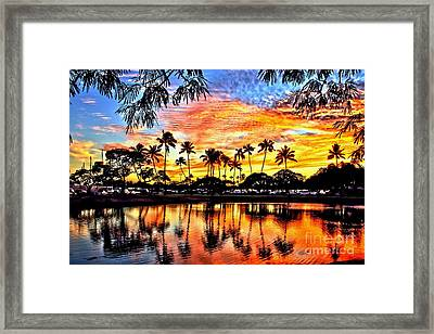 Framed Print featuring the digital art Path To The Sea by DJ Florek